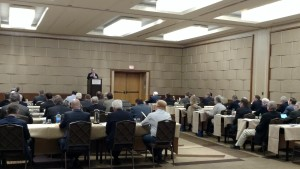 WCHA delegates listen to WisDOT Secretary Mark Gottlieb at the TDA Fly-in's opening session in D.C.